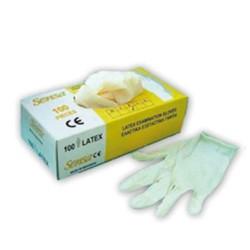 Γάντια Latex με πούδρα (100 τμχ)