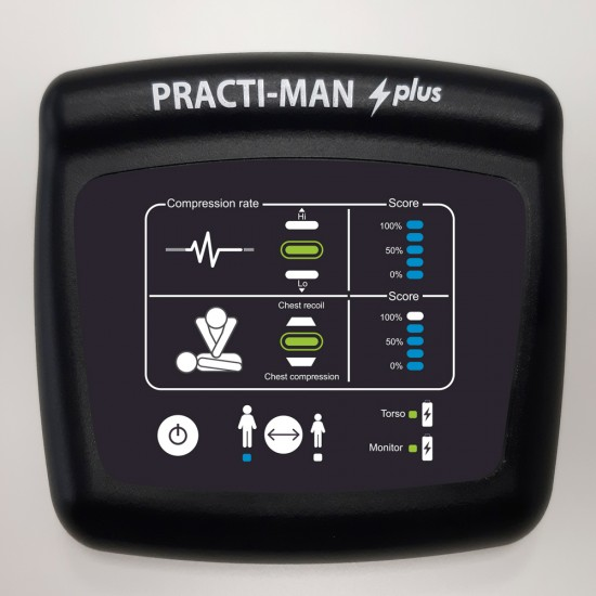 PRACTI-MAN Plus Εκπαιδευτικό Πρόπλασμα Ενήλικα & Παιδιού 2 σε 1 (JAW THRUST + Συσκευή Ανατροφοδότησης)