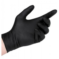 Γάντια Νιτριλίου Aurelia Bold μαύρο χρώμα, χωρίς πούδρα (100 τμχ)